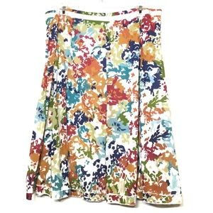 FLORAL COTTON SUMMER CASUAL SKIRT SIZE 10